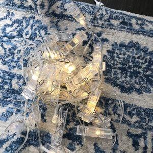 Photo Clips String Lights/ holder ( cream white)